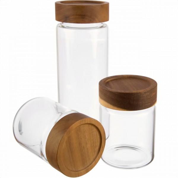 Borosilikatglas Misch Set luftdicht von Dosenritter für Proteinpulver Kakao Zucker Cornflakes