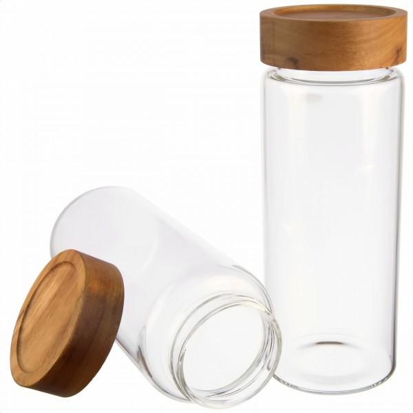 Borosilikatglas Set luftdicht, von Dosenritter für Proteinpulver, Reis, Cornflakes, Zucker