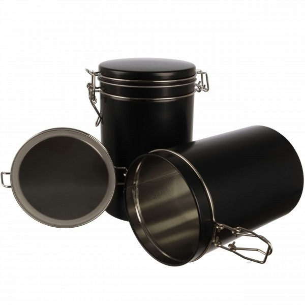 2er Set | elegante große aromadichte Bügelverschluss Kaffeedose