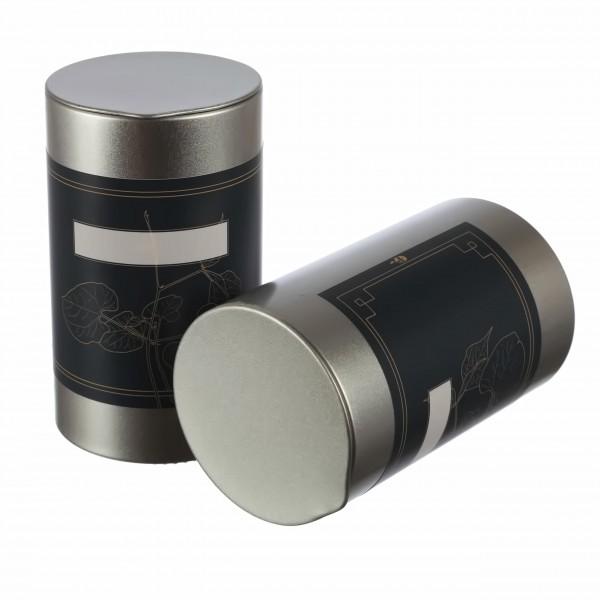 silberne runde aromaschutz Gewürzdosen aus Metall mit klassischen Kleebeetiketten von Dosenritter