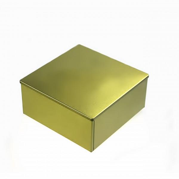 Goldene Metallbox COOKIE  quadratisch abgerundete ecken