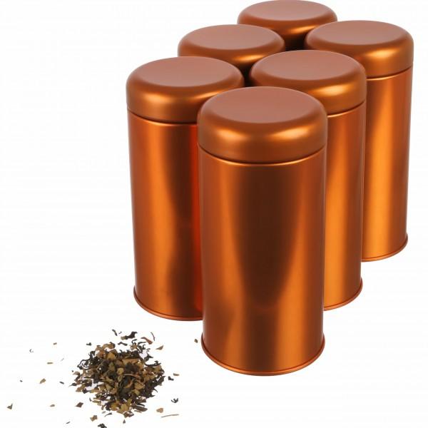 6er Set | Koi elegante Tee- / Gewürzdose für Kräuter