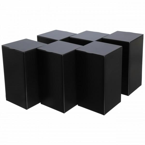 Tee-Gewürzdosen Set BUBA schwarz eckig aus Metall von Dosenritter