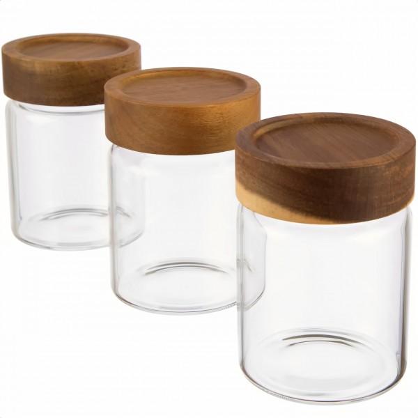 3er Gewürzglas Set luftdicht von Dosenritter für Gewürze, getrocknete Kräuter, Zucker