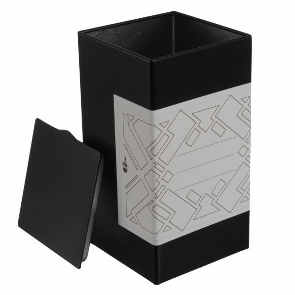 6er Set | BUBA moderne Teedose / Gewürzdose inkl. 6 graphische Klebeetiketten zum Beschriften